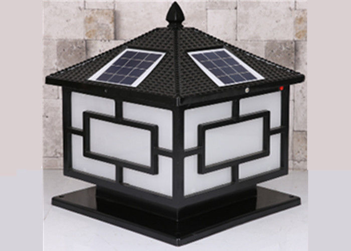 5W Outdoor Yard Light Fixtures Solar Pillar High Brightness Decorative Garden Lights